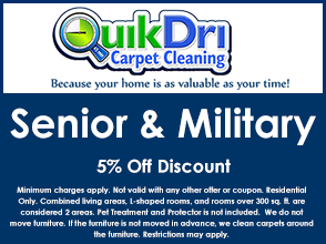 Senior and Military Coupon 5% off Discount