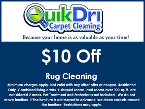 Rug Cleaning Coupon for $10 off.